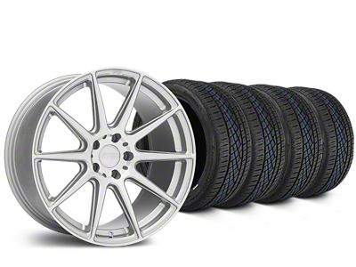 Niche Essen Silver Wheel & Continental Extreme Contact DWS06 Tire Kit - 19x8.5 (05-14 All)