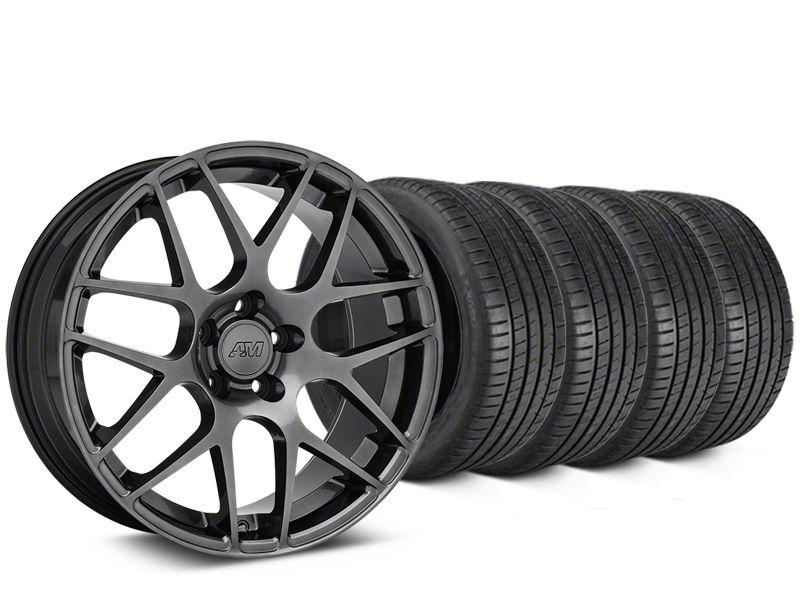 AMR Dark Stainless Wheel & Michelin Pilot Super Sport Tire Kit - 19x8.5 (05-14 All)
