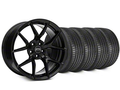 RTR Tech 5 Black Wheel & Michelin Pilot Super Sport Tire Kit - 19x9.5 (05-14 All)