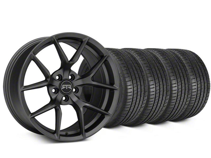 RTR Tech 5 Charcoal Wheel & Michelin Pilot Super Sport Tire Kit - 19x9.5 (05-14 All)