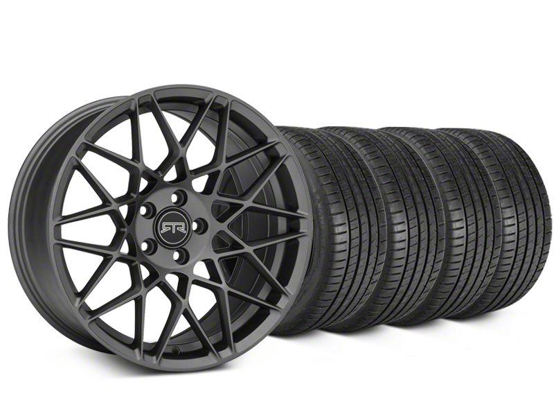 RTR Tech Mesh Charcoal Wheel & Michelin Pilot Super Sport Tire Kit - 20x9.5 (05-14 All)