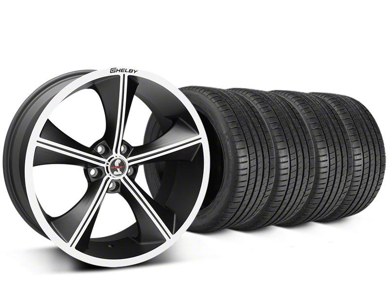 Shelby CS70 Matte Black Wheel & Michelin Pilot Super Sport Tire Kit - 20x9 (05-14 All)