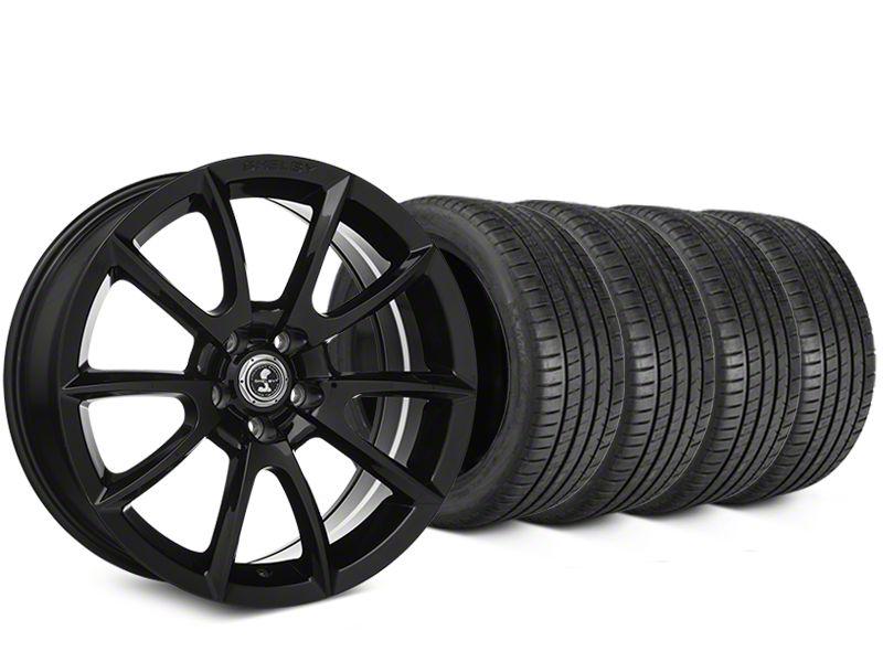 Shelby Super Snake Style Black Wheel & Michelin Pilot Super Sport Tire Kit - 20x9 (05-14 All)