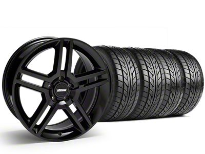 2010 GT500 Style Black Wheel & NITTO NT555 G2 Tire Kit - 19x8.5 (15-19 GT, EcoBoost, V6)