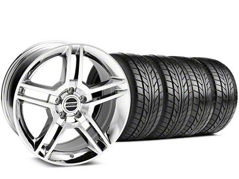 2010 GT500 Style Chrome Wheel & NITTO NT555 G2 Tire Kit - 19x8.5 (15-19 GT, EcoBoost, V6)