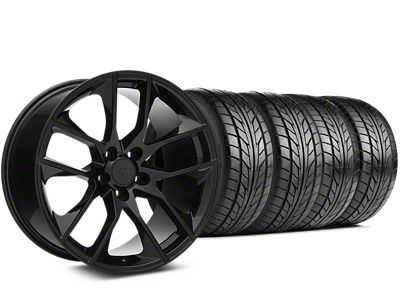 Magnetic Style Black Wheel & NITTO NT555 G2 Tire Kit - 19x8.5 (15-19 GT, EcoBoost, V6)