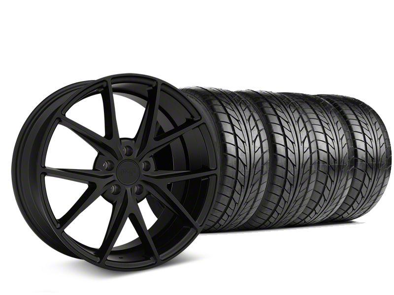 Niche Misano Matte Black Wheel & NITTO NT555 G2 Tire Kit - 19x8.5 (15-19 All)