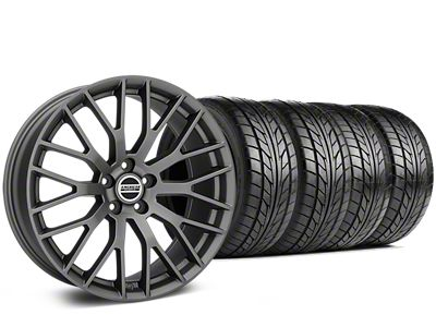 Performance Pack Style Charcoal Wheel & NITTO NT555 G2 Tire Kit - 19x8.5 (15-19 GT, EcoBoost, V6)