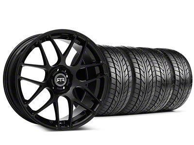 RTR Black Wheel & NITTO NT555 G2 Tire Kit - 19x8.5 (15-19 GT, EcoBoost, V6)