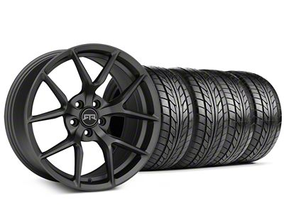 RTR Tech 5 Charcoal Wheel & NITTO NT555 G2 Tire Kit - 19x9.5 (15-19 GT, EcoBoost, V6)