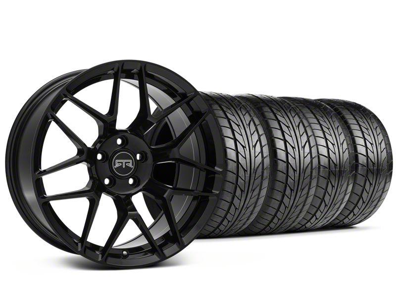 RTR Tech 7 Black Wheel & NITTO NT555 G2 Tire Kit - 19x9.5 (15-19 GT, EcoBoost, V6)
