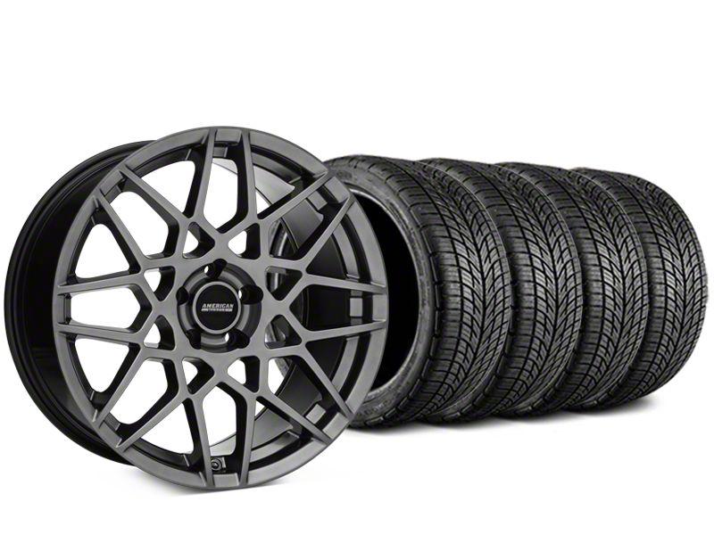 2013 GT500 Style Hyper Dark Wheel & BF Goodrich G-FORCE COMP 2 Tire Kit - 19x8.5 (05-14 All)