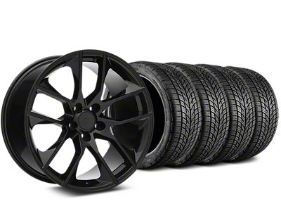 Magnetic Style Black Wheel & BF Goodrich G-FORCE COMP 2 Tire Kit - 19x8.5 (15-19 GT, EcoBoost, V6)