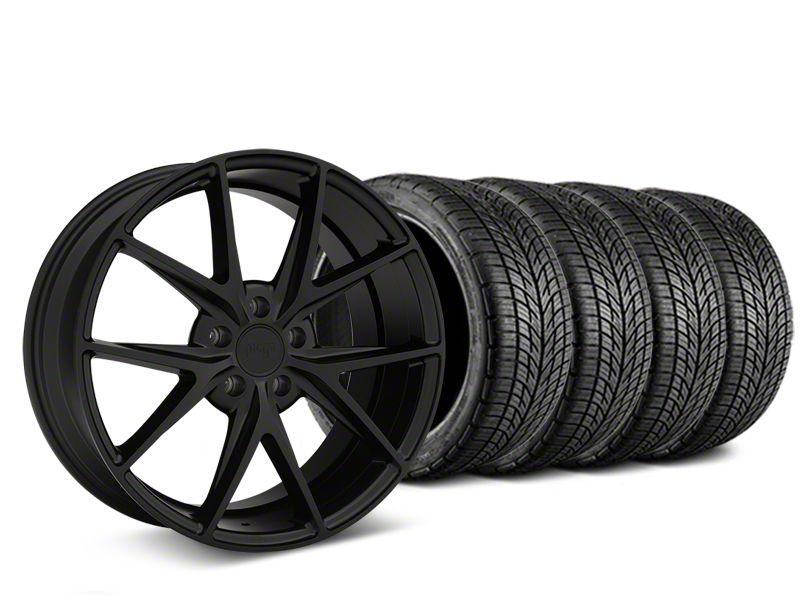 Niche Misano Matte Black Wheel & BF Goodrich G-FORCE COMP 2 Tire Kit - 19x8.5 (15-19 All)