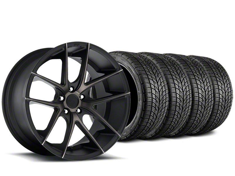 Niche Targa Matte Black Wheel & BF Goodrich G-FORCE COMP 2 Tire Kit - 19x8.5 (15-19 GT, EcoBoost, V6)