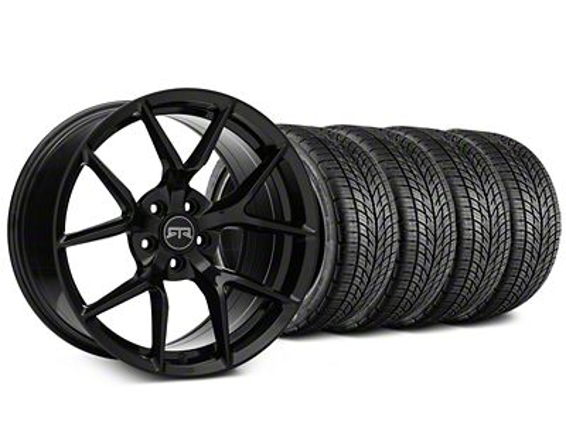 RTR Tech 5 Black Wheel & BF Goodrich G-FORCE COMP 2 Tire Kit - 19x9.5 (15-19 GT, EcoBoost, V6)