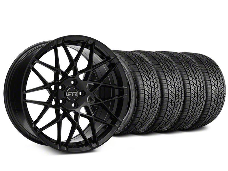 RTR Tech Mesh Black Wheel & BF Goodrich G-FORCE COMP 2 Tire Kit - 19x9.5 (15-19 GT, EcoBoost, V6)