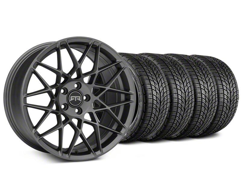 RTR Tech Mesh Charcoal Wheel & BF Goodrich G-FORCE COMP 2 Tire Kit - 19x9.5 (15-19 GT, EcoBoost, V6)