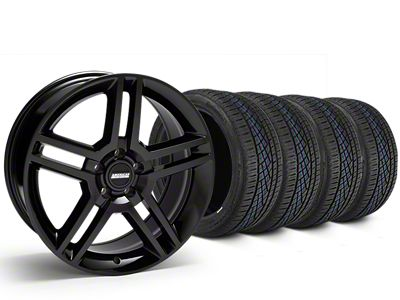 2010 GT500 Style Black Wheel & Continental Extreme Contact DWS06 Tire Kit - 19x8.5 (15-19 All)