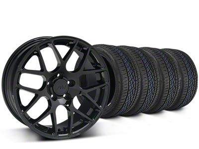 AMR Black Wheel & Continental Extreme Contact DWS06 Tire Kit - 19x8.5 (15-19 GT, EcoBoost, V6)