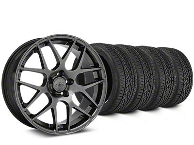 AMR Dark Stainless Wheel & Continental Extreme Contact DWS06 Tire Kit - 19x8.5 (15-19 GT, EcoBoost, V6)