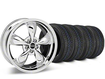 Bullitt Chrome Wheel & Continental Extreme Contact DWS06 Tire Kit - 19x8.5 (15-19 EcoBoost, V6)