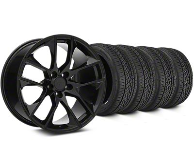 Magnetic Style Black Wheel & Continental Extreme Contact DWS06 Tire Kit - 19x8.5 (15-19 GT, EcoBoost, V6)