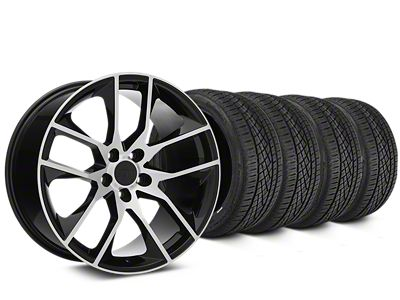 Magnetic Style Black Machined Wheel & Continental Extreme Contact DWS06 Tire Kit - 19x8.5 (15-19 GT, EcoBoost, V6)