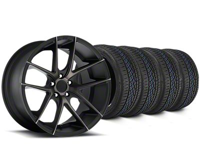 Niche Targa Matte Black Wheel & Continental Extreme Contact DWS06 Tire Kit - 19x8 (15-19 All)