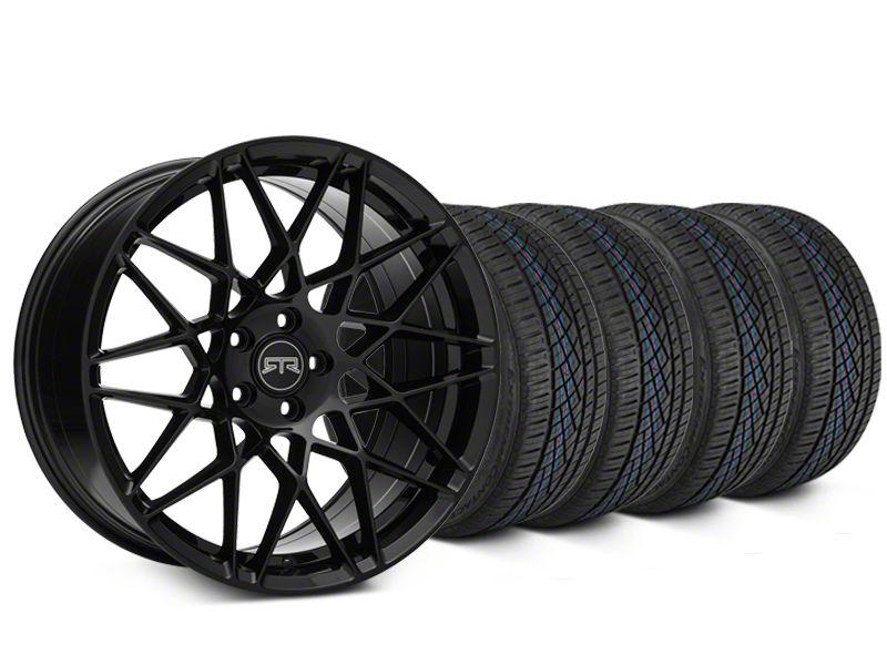 RTR Tech Mesh Black Wheel & Continental Extreme Contact DWS06 Tire Kit - 19x9.5 (15-19 GT, EcoBoost, V6)
