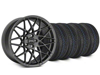 RTR Tech Mesh Charcoal Wheel & Continental Extreme Contact DWS06 Tire Kit - 19x9.5 (15-19 GT, EcoBoost, V6)