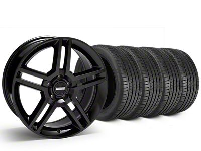 2010 GT500 Style Black Wheel & Michelin Pilot Super Sport Tire Kit - 19x8.5 (15-19 GT, EcoBoost, V6)