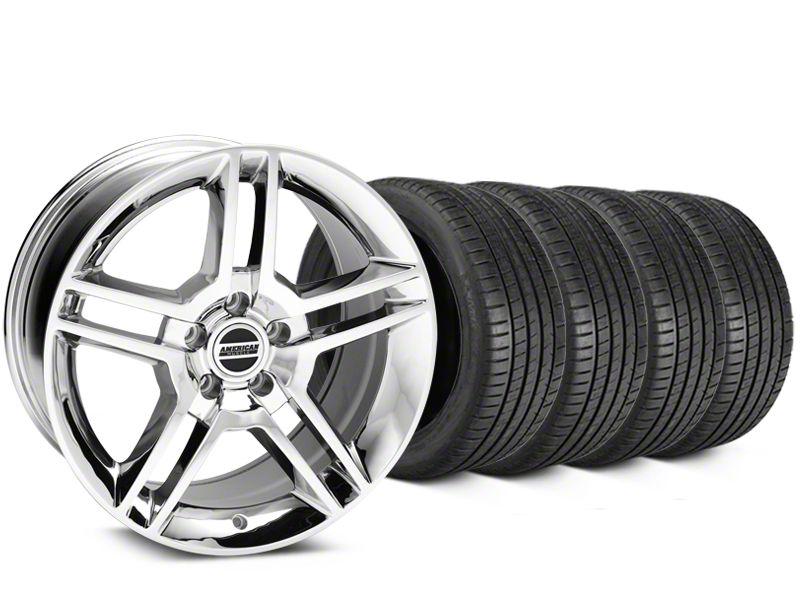 2010 GT500 Style Chrome Wheel & Michelin Pilot Super Sport Tire Kit - 19x8.5 (15-19 GT, EcoBoost, V6)