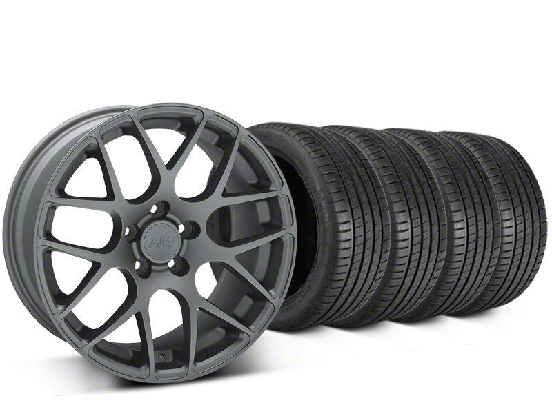 AMR Charcoal Wheel & Michelin Pilot Super Sport Tire Kit - 19x8.5 (15-19 GT, EcoBoost, V6)