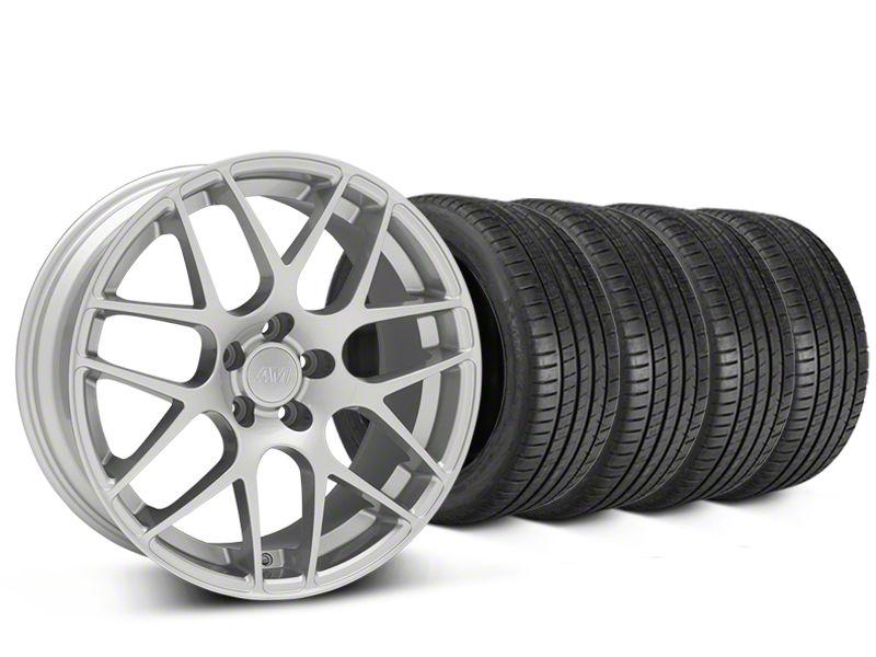 AMR Silver Wheel & Michelin Pilot Super Sport Tire Kit - 19x8.5 (15-19 GT, EcoBoost, V6)