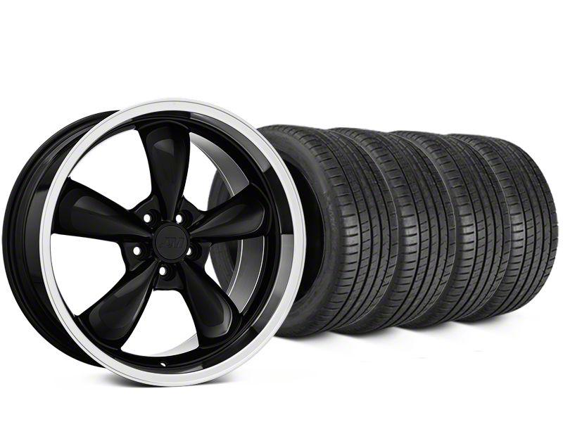 Bullitt Black Wheel & Michelin Pilot Super Sport Tire Kit - 19x8.5 (15-19 EcoBoost, V6)