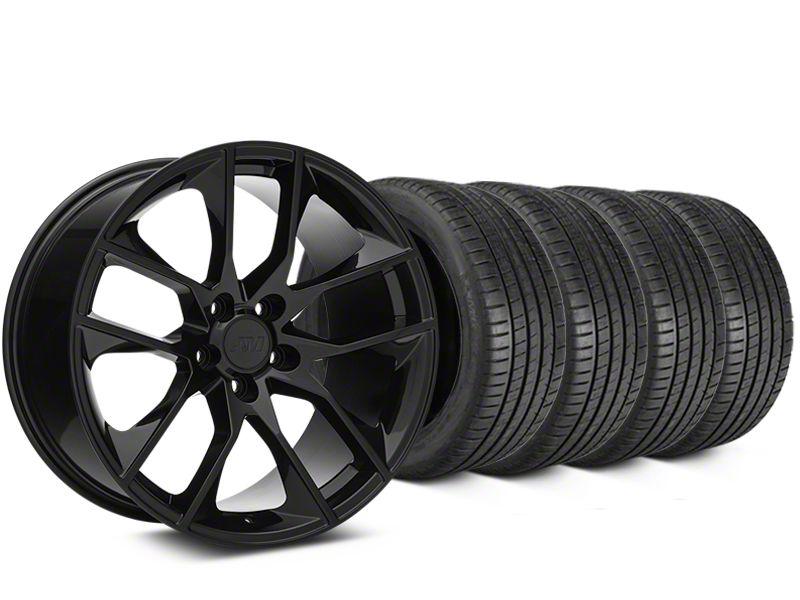 Magnetic Style Black Wheel & Michelin Pilot Super Sport Tire Kit - 19x8.5 (15-19 GT, EcoBoost, V6)