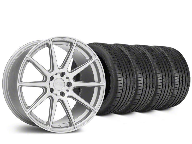 Niche Essen Silver Wheel & Michelin Pilot Super Sport Tire Kit - 19x8.5 (15-19 All)