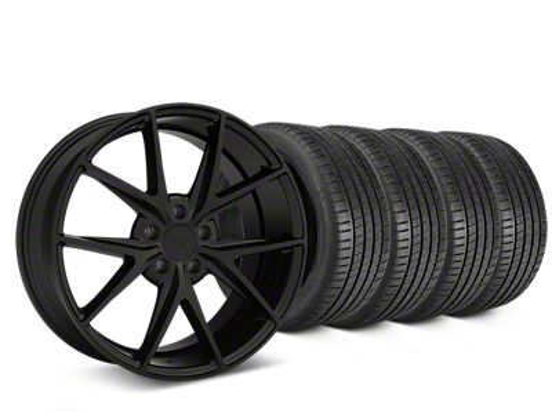 Niche Misano Matte Black Wheel & Michelin Pilot Super Sport Tire Kit - 19x8.5 (15-19 All)