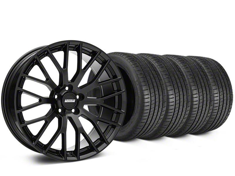 Performance Pack Style Black Wheel & Michelin Pilot Super Sport Tire Kit - 19x8.5 (15-19 All)