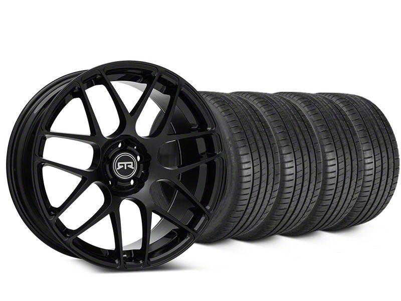RTR Black Wheel & Michelin Pilot Super Sport Tire Kit - 19x8.5 (15-19 GT, EcoBoost, V6)