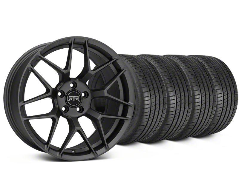 RTR Tech 7 Charcoal Wheel & Michelin Pilot Super Sport Tire Kit - 19x9.5 (15-19 GT, EcoBoost, V6)