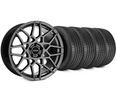 2013 GT500 Style Hyper Dark Wheel & Michelin Pilot Super Sport Tire Kit - 20x8.5 (15-19 GT, EcoBoost, V6)