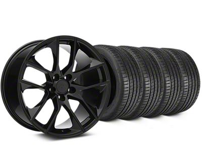 Magnetic Style Black Wheel & Michelin Pilot Super Sport Tire Kit - 20x8.5 (15-19 GT, EcoBoost, V6)