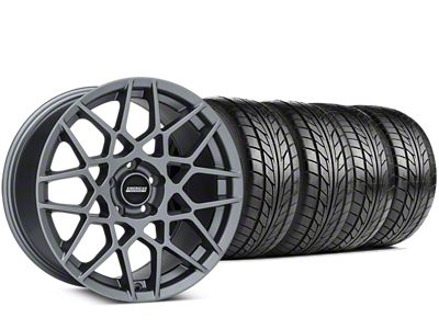 Staggered 2013 GT500 Style Charcoal Wheel & NITTO NT555 G2 Tire Kit - 19x8.5/10 (05-14 All)