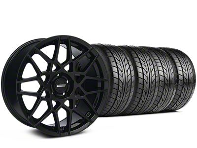 Staggered 2013 GT500 Style Gloss Black Wheel & NITTO NT555 G2 Tire Kit - 19x8.5/10 (05-14 All)
