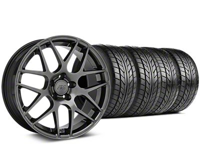 Staggered AMR Dark Stainless Wheel & NITTO NT555 G2 Tire Kit - 19x8.5/11 (05-14 All)