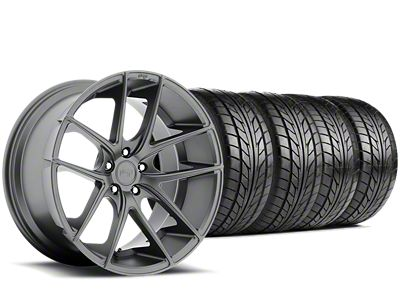 Staggered Niche Targa Matte Anthracite Wheel & NITTO NT555 G2 Tire Kit - 19x8/9.5 (05-14 All)
