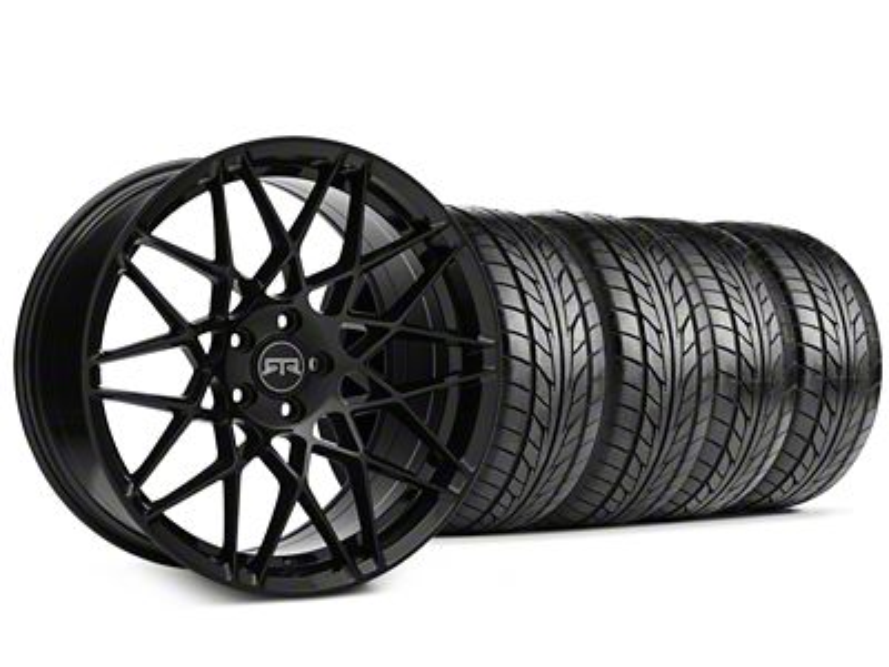 Staggered RTR Tech Mesh Black Wheel & NITTO NT555 G2 Tire Kit - 19x9.5/10.5 (05-14 All)