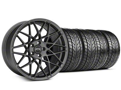 Staggered RTR Tech Mesh Charcoal Wheel & NITTO NT555 G2 Tire Kit - 19x9.5/10.5 (05-14 All)